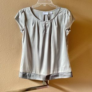 💥3/$15 New York & Co Pewter Blouse